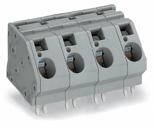Federkraftklemmblock 16.00 mm² Polzahl 3 WAGO Grau 24 St.
