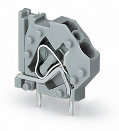 Federkraftklemmblock 4.00 mm² Polzahl 1 MODULAR TERM/BLK 2-SOLDER PINS LT.GY WAGO Licht-Grau 200 St.