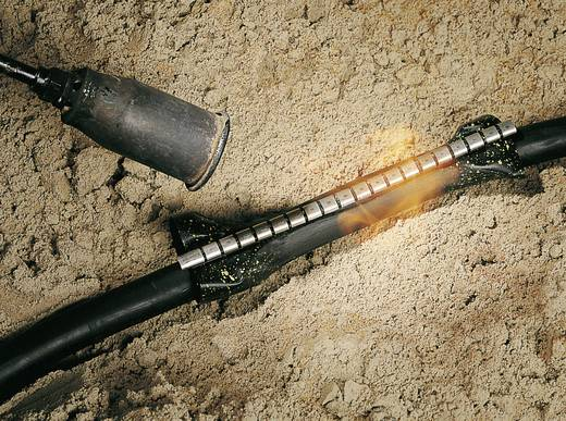 Warmschrumpf-Verbindungsgarnitur ohne Schraubverbinder Kabel-Ø-Bereich: 15 - 35 mm HellermannTyton 450-20002 RMS-43/10-1