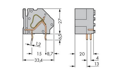 Federkraftklemmblock 16.00 mm² Polzahl 1 WAGO Grün-Gelb 50 St.