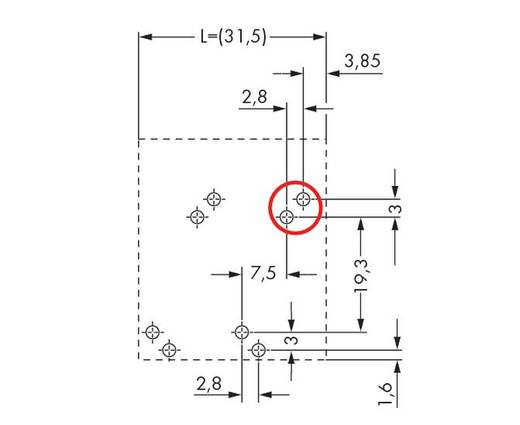 Federkraftklemmblock 10.00 mm² Polzahl 2 746-2302 WAGO Grau 60 St.