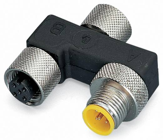 Sensor-/Aktor-Verteiler und Adapter M12 Adapter, T-Form Polzahl: 5 WAGO 756-9303/050-000 1 St.