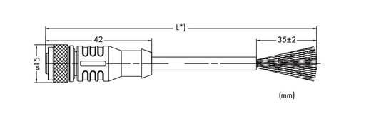 WAGO 756-1201/060-100 Sensor-/Aktor-Datensteckverbinder, konfektioniert M12 Stecker, gerade 10 m Polzahl: 4 1 St.