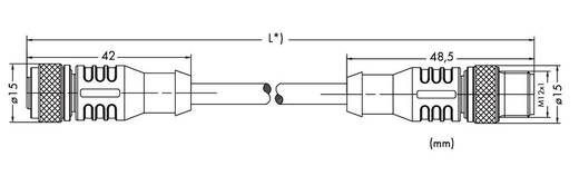 WAGO 756-1405/060-200 Sensor-/Aktor-Datensteckverbinder, konfektioniert M12 Stecker, gerade, Buchse, gerade 20 m Polzahl