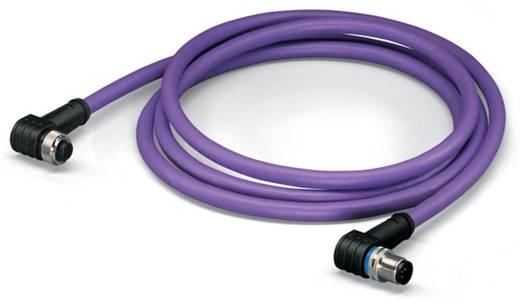 WAGO 756-1406/060-050 Sensor-/Aktor-Datensteckverbinder, konfektioniert M12 Stecker, gewinkelt, Buchse, gewinkelt 5 m Po