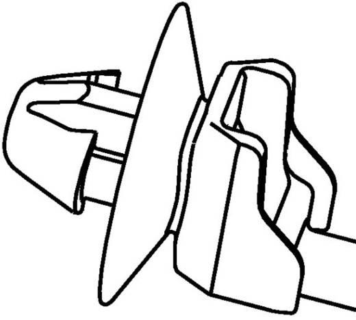 Kabelbinder 160 mm Schwarz mit Spreitzanker und Teller, Hitzestabilisiert HellermannTyton 126-00015 T50SDOP 1 St.