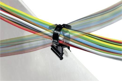 Kabelbinder 200 mm Schwarz mit drehbarer Halterung HellermannTyton 156-01601 CBTO50R-PA66-BK-D1 1 St.
