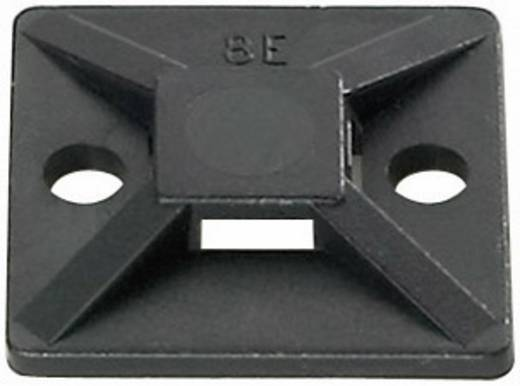 Befestigungssockel selbstklebend, schraubbar 4fach einfädeln, halogenfrei , UV-stabilisiert, witterungsstabil Schwarz HellermannTyton 151-28320 MB3A-N66-BK-C1 1 St.