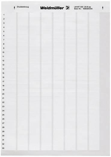 Kabel-Etikett LaserMark 12.7 x 18 mm Farbe Beschriftungsfeld: Weiß Weidmüller 1695711044 LM WritoOn 18X34 WS Anzahl Etiketten: 88