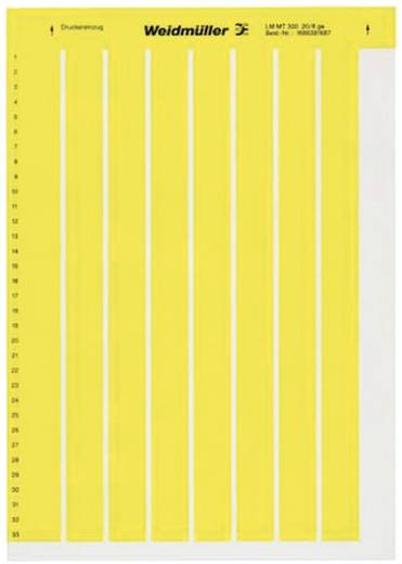 Kabel-Etikett LaserMark 22 x 56 mm Farbe Beschriftungsfeld: Silber Weidmüller 1686420001 LM MT300 56X22 SI Anzahl Etiketten: 36
