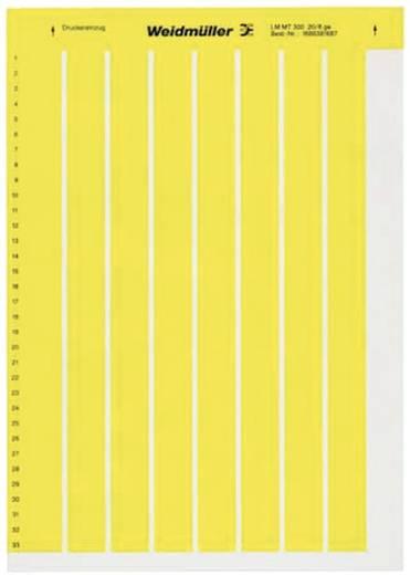 Kabel-Etikett LaserMark 8 x 20.30 mm Farbe Beschriftungsfeld: Gelb Weidmüller 1686381687 LM MT300 20X8 GE Anzahl Etiketten: 264