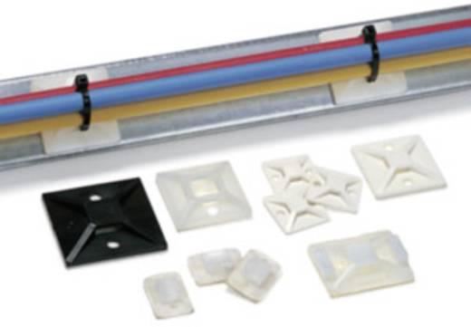 Befestigungssockel selbstklebend, schraubbar 4fach einfädeln, halogenfrei , UV-stabilisiert, witterungsstabil Transparent HellermannTyton 151-28529 MB5A-PA66-NA-C1 1 St.