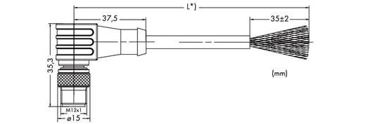 WAGO 756-1504/060-200 Sensor-/Aktor-Datensteckverbinder, konfektioniert M12 Stecker, gewinkelt 20 m Polzahl: 5 1 St.