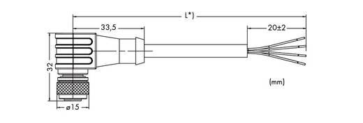WAGO 756-3102/040-050 Sensor-/Aktor-Datensteckverbinder, konfektioniert M8 Buchse, gewinkelt 5 m Polzahl: 4 1 St.