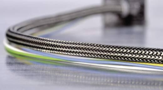 Geflechtschlauch Aluminium, Schwarz Polyester 8 bis 11.50 mm 173-00800 HEGEMIP08-CUSP-C4 HellermannTyton Meterware