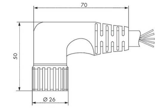 Sensor-/Aktor-Steckverbinder, konfektioniert M23 Buchse, gerade 5 m Polzahl: 12 WAGO 756-3204/190-050 1 St.
