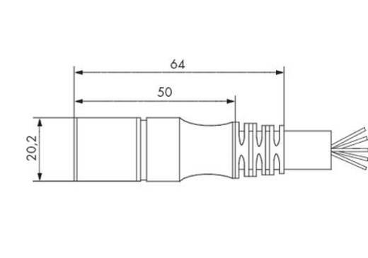 Sensor-/Aktor-Steckverbinder, konfektioniert Buchse, gerade 5 m WAGO 756-3205/140-050 1 St.