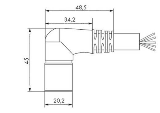 Sensor-/Aktor-Steckverbinder, konfektioniert Buchse, gewinkelt 5 m WAGO 756-3206/140-050 1 St.