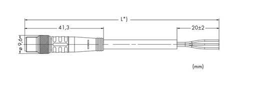 Sensor-/Aktor-Steckverbinder, konfektioniert Stecker, gerade 1.50 m WAGO 756-5111/030-015 10 St.