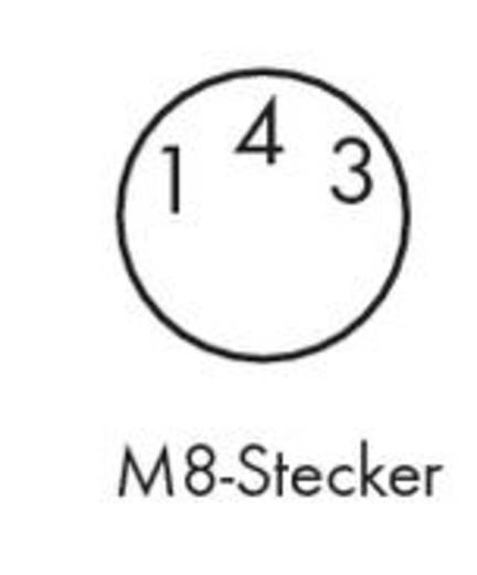 Sensor-/Aktor-Steckverbinder, konfektioniert M8 Stecker, gewinkelt 1.50 m Polzahl: 3 WAGO 756-5112/030-015 1 St.