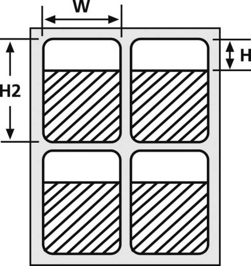 Kabel-Etikett Helatag 20.32 x 12.70 mm Farbe Beschriftungsfeld: Weiß HellermannTyton 594-41104 TAG132LA4-1104-WHCL Anzah