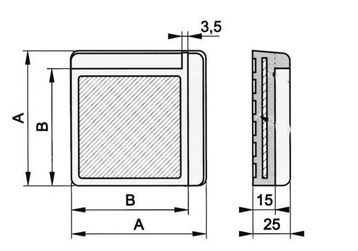 Dämpfungsecke Grau (L x B x H) 75 x 75 x 25 mm PB Fastener 121845 1 St.