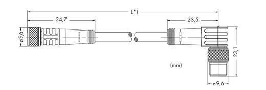 Sensor-/Aktor-Steckverbinder, konfektioniert Stecker, gewinkelt, Buchse, gerade 1 m WAGO 756-5202/030-010 10 St.
