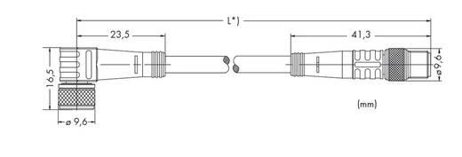 Sensor-/Aktor-Steckverbinder, konfektioniert Stecker, gerade, Buchse, gewinkelt 1 m WAGO 756-5203/030-010 10 St.