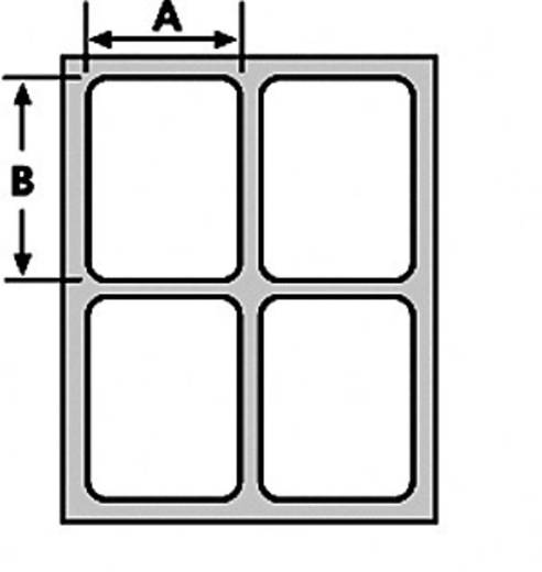 Kabel-Etikett Helatag 25.40 x 12.70 mm Farbe Beschriftungsfeld: Weiß HellermannTyton 594-61104 TAG134LA4-1104-WHCL Anzah