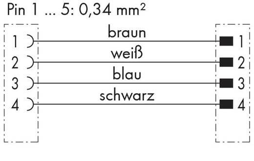 Sensor-/Aktor-Steckverbinder, konfektioniert M12 Stecker, gerade, Buchse, gerade 1 m Polzahl: 4 WAGO 756-5401/040-010 1