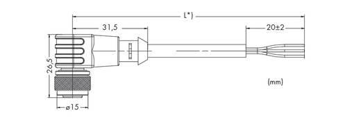 Sensor-/Aktor-Steckverbinder, konfektioniert Buchse, gewinkelt 1.50 m WAGO 756-5302/030-015 10 St.