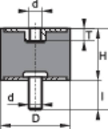 Gewindepuffer Außengewinde M6 Innengewinde M6 Höhe 20 mm PB Fastener 100522 1 St.