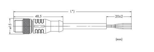 Sensor-/Aktor-Steckverbinder, konfektioniert Stecker, gerade 1.50 m WAGO 756-5311/050-015 10 St.
