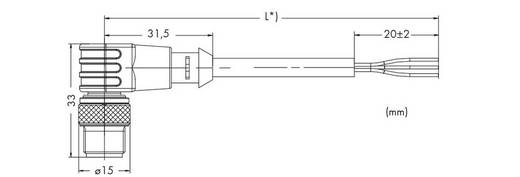 Sensor-/Aktor-Steckverbinder, konfektioniert M12 Stecker, gewinkelt 10 m Polzahl: 3 WAGO 756-5312/030-100 10 St.