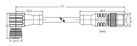 Sensor-/Aktor-Steckverbinder, konfektioniert M12 Stecker, gerade, Buchse, gewinkelt 2 m Polzahl: 3 WAGO 756-5403/030-020