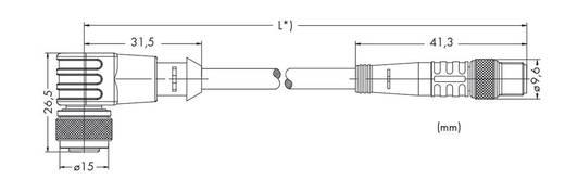 Sensor-/Aktor-Steckverbinder, konfektioniert Stecker, gerade, Buchse, gewinkelt 1 m WAGO 756-5503/030-010 10 St.