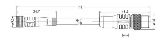 Sensor-/Aktor-Steckverbinder, konfektioniert M8 Stecker, gerade, Buchse, gerade 1 m Polzahl: 3 WAGO 756-5507/030-010 10