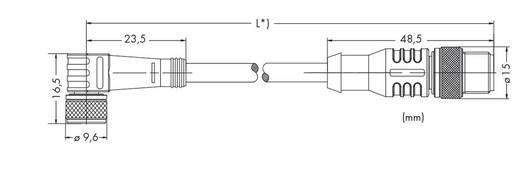 Sensor-/Aktor-Steckverbinder, konfektioniert M8 Stecker, gerade, Buchse, gewinkelt 1 m Polzahl: 3 WAGO 756-5509/030-010
