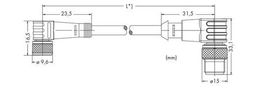 Sensor-/Aktor-Steckverbinder, konfektioniert M8 Stecker, gewinkelt, Buchse, gewinkelt 1 m Polzahl: 3 WAGO 756-5510/030-0