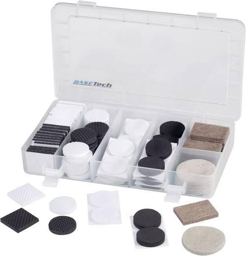 Gerätefüße Sortiment selbstklebend Schwarz-Grau Basetech 546570 1 Set