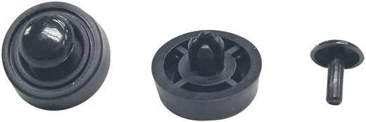 Gerätefuß Klickbefestigung, rund Schwarz (Ø x H) 15.8 mm x 4.5 mm 4 St.