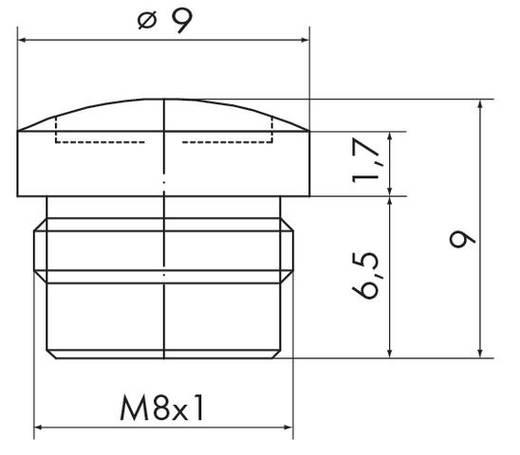 Sensor-/Aktor-Steckverbinder, Zubehör M12 Schutzkappe WAGO 756-8101 10 St.