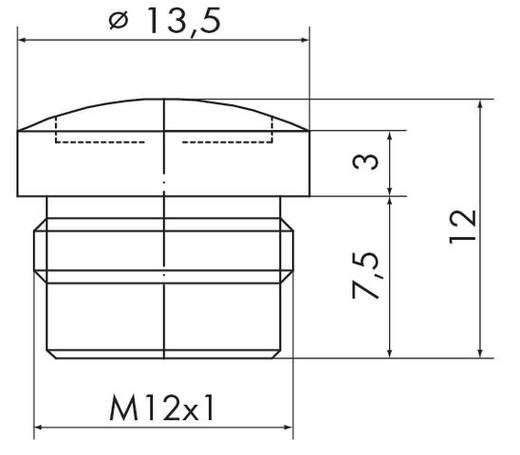 M12-Schutzkappe 756-8102 WAGO Inhalt: 10 St.
