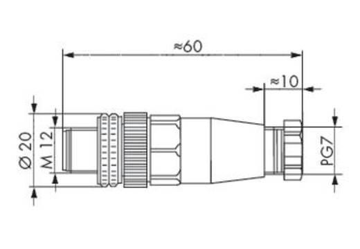 Steckverbinder für Sensor-/Aktorkabel 756-9201/050-000 WAGO Inhalt: 5 St.