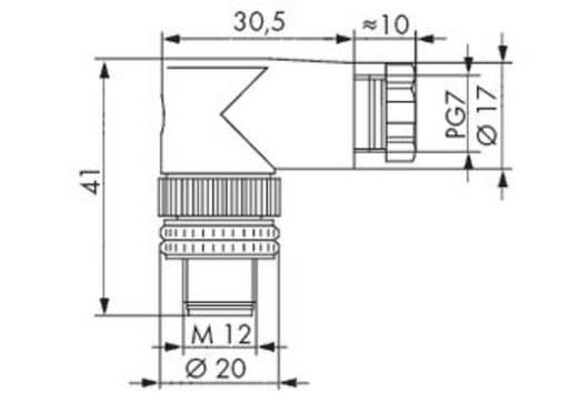 Steckverbinder für Sensor-/Aktorkabel 756-9204/040-000 WAGO Inhalt: 5 St.