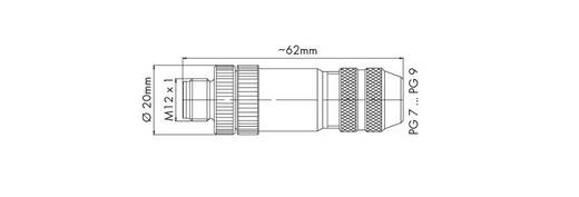 M12-Stecker 756-9207/060-000 WAGO Inhalt: 1 St.