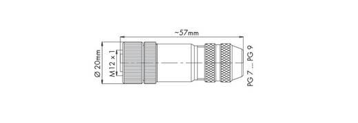 Sensor-/Aktor-Steckverbinder, unkonfektioniert M12 Buchse, gerade Polzahl (RJ): 5 WAGO 756-9402/060-000 1 St.