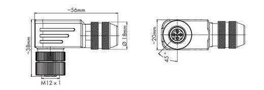 Sensor-/Aktor-Steckverbinder, unkonfektioniert M12 Buchse, gewinkelt Polzahl: 5 WAGO 756-9404/060-000 1 St.