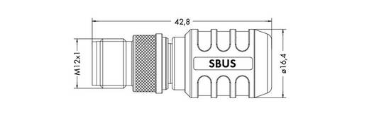 Sensor-/Aktor-Steckverbinder, unkonfektioniert M12 Abschlusswiderstand WAGO 756-9409/060-000 1 St.