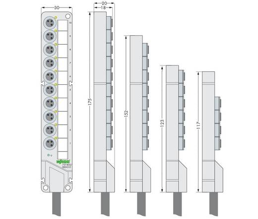 Sensor/Aktorbox passiv M8-Verteiler mit Metallgewinde 757-443/000-002 757-443/000-002 WAGO 1 St.